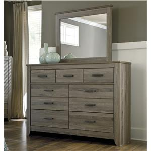 Signature Design by Ashley Zelen Dresser & Bedroom Mirror