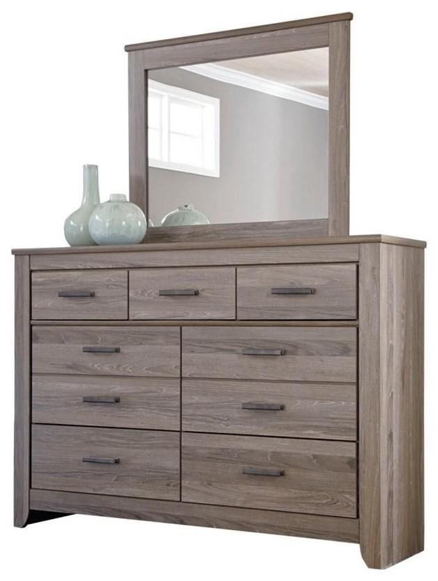 Zelen Dresser & Mirror by Signature Design by Ashley at HomeWorld Furniture
