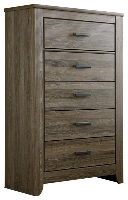 Zelen 5 Drawer Chest by Signature Design by Ashley at HomeWorld Furniture