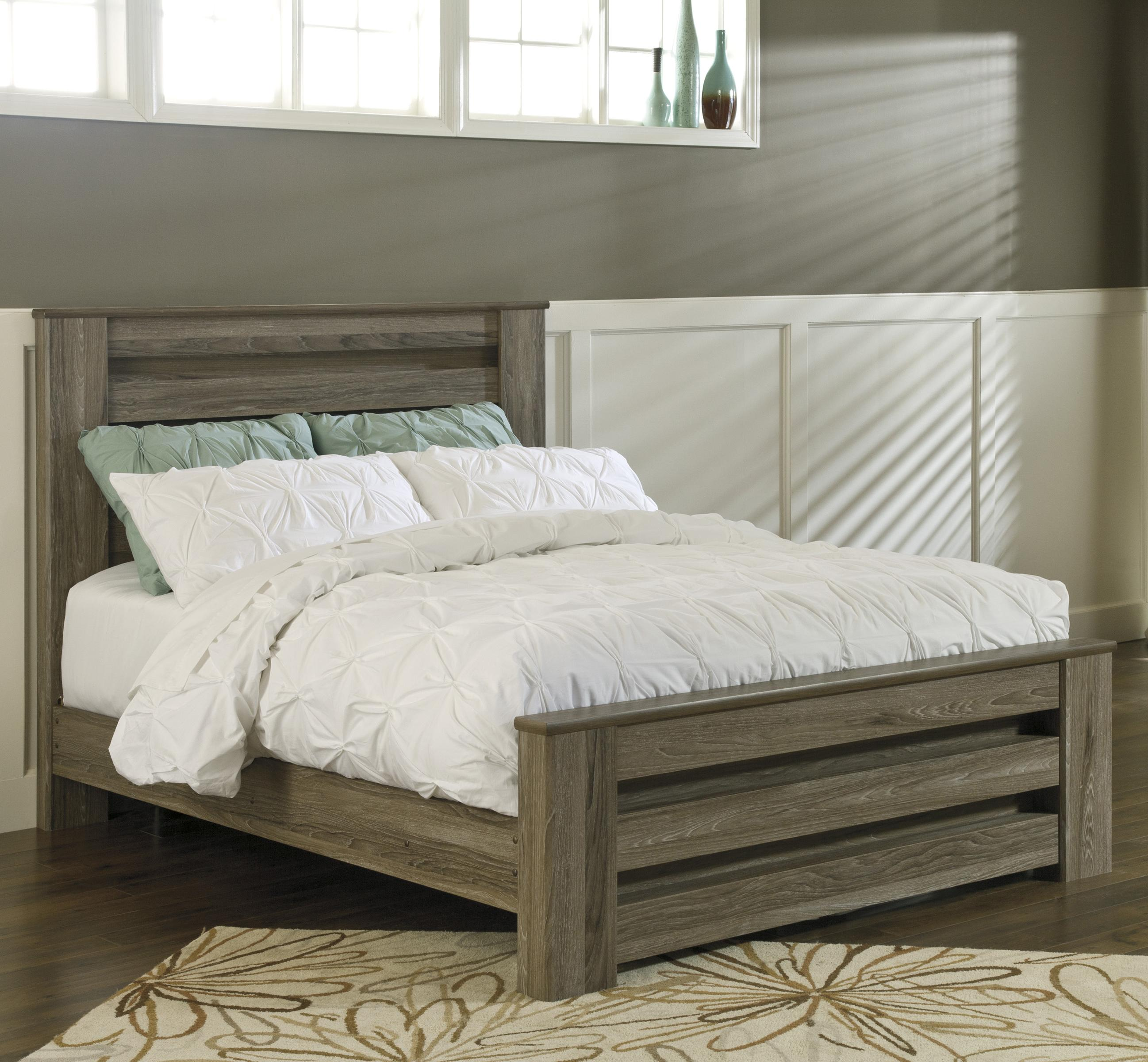 Ashley Furniture Beds: Signature Design By Ashley Zelen Queen Poster Bed In Warm