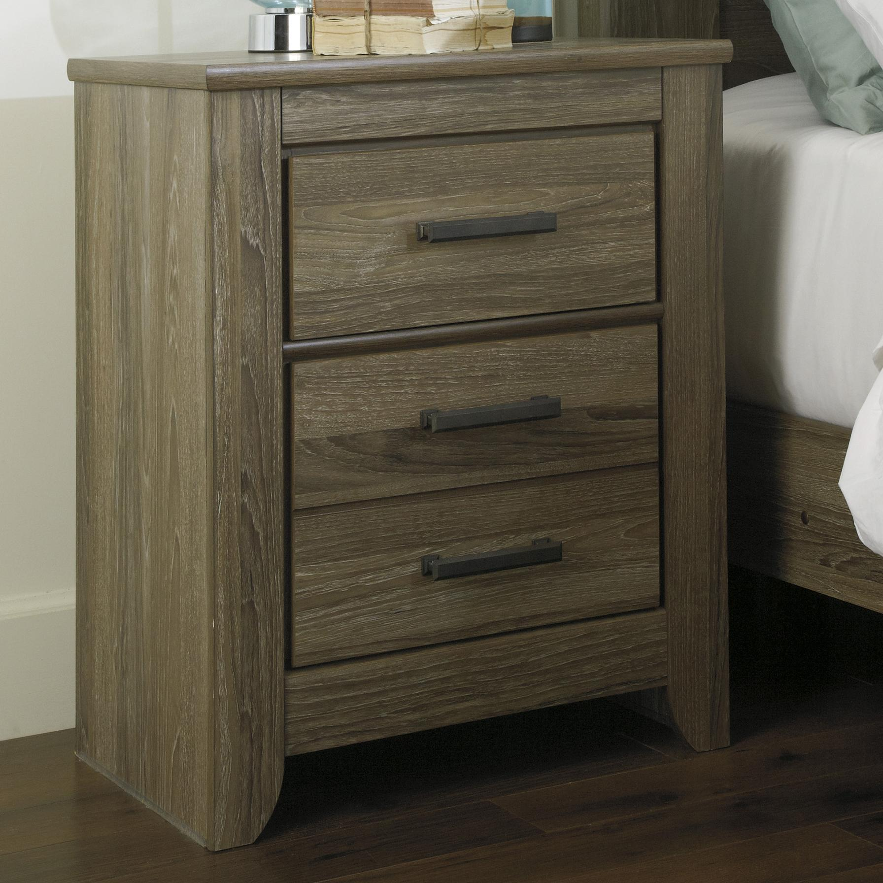 Signature Design by Ashley Zelen Two Drawer Night Stand - Item Number: B248-92