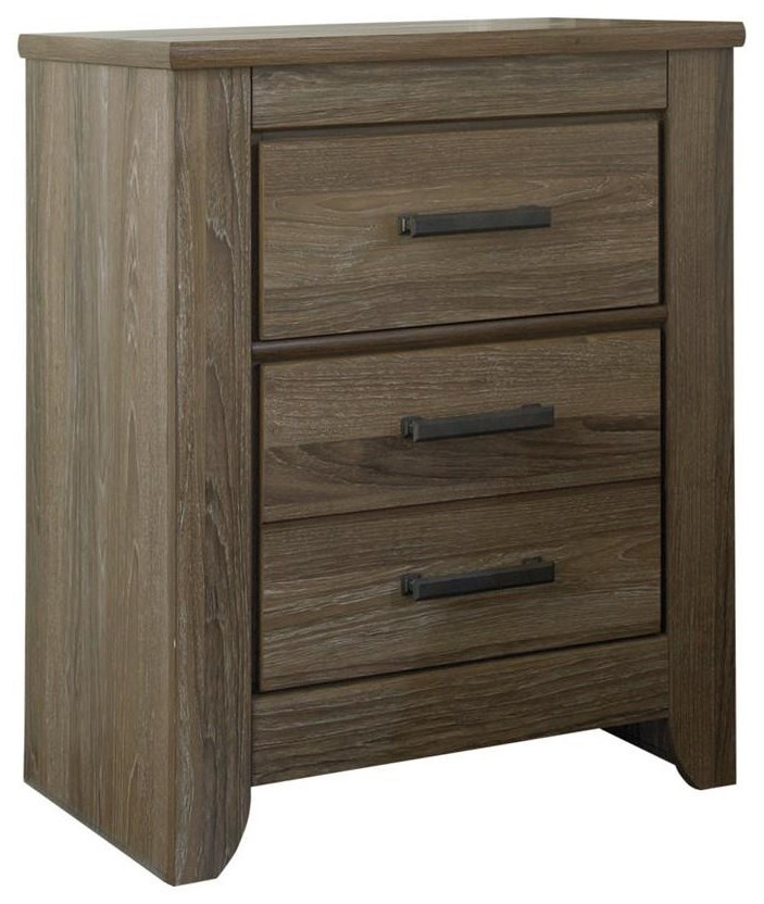 Zelen 2 Drawer Nightstand by Signature Design by Ashley at HomeWorld Furniture