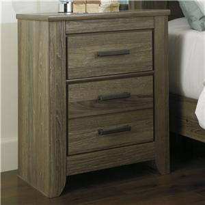 Signature Design by Ashley Zelen Two Drawer Night Stand