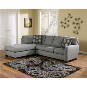 Signature Design by Ashley Zella - Charcoal Sectional Sofa with Left Arm Facing Chaise  sc 1 st  Furniture and ApplianceMart : madison sectional sofa - Sectionals, Sofas & Couches