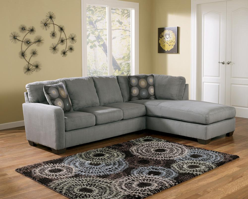 Signature design by ashley zella charcoal contemporary for Ashley furniture chaise lounge couch