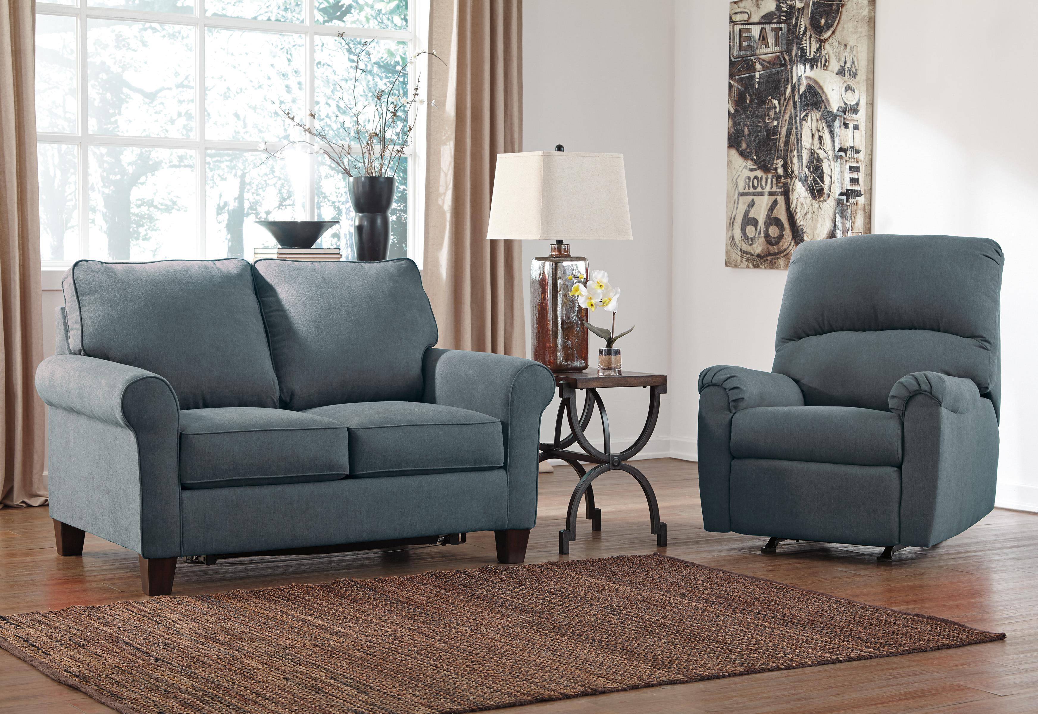 Signature Design by Ashley Zeth - Denim Stationary Living Room Group - Item Number: 27101 Living Room Group 2