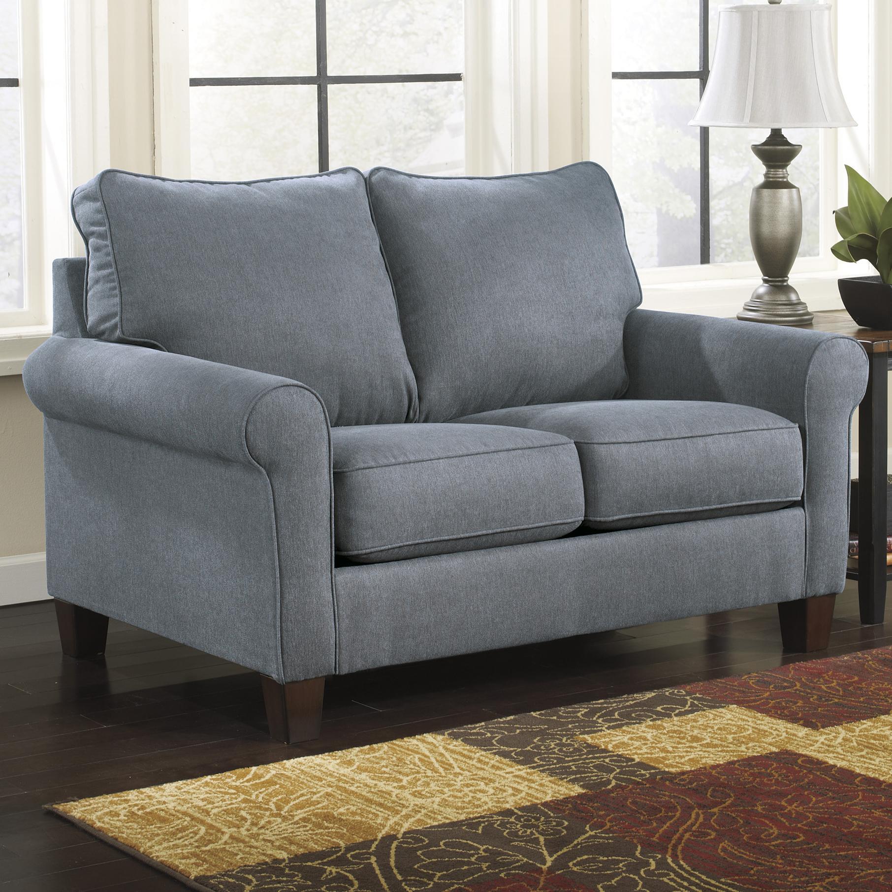 Signature Design by Ashley Zeth - Denim Twin Sofa Sleeper - Item Number: 2710137