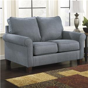 Signature Design by Ashley Zeth - Denim Twin Sofa Sleeper