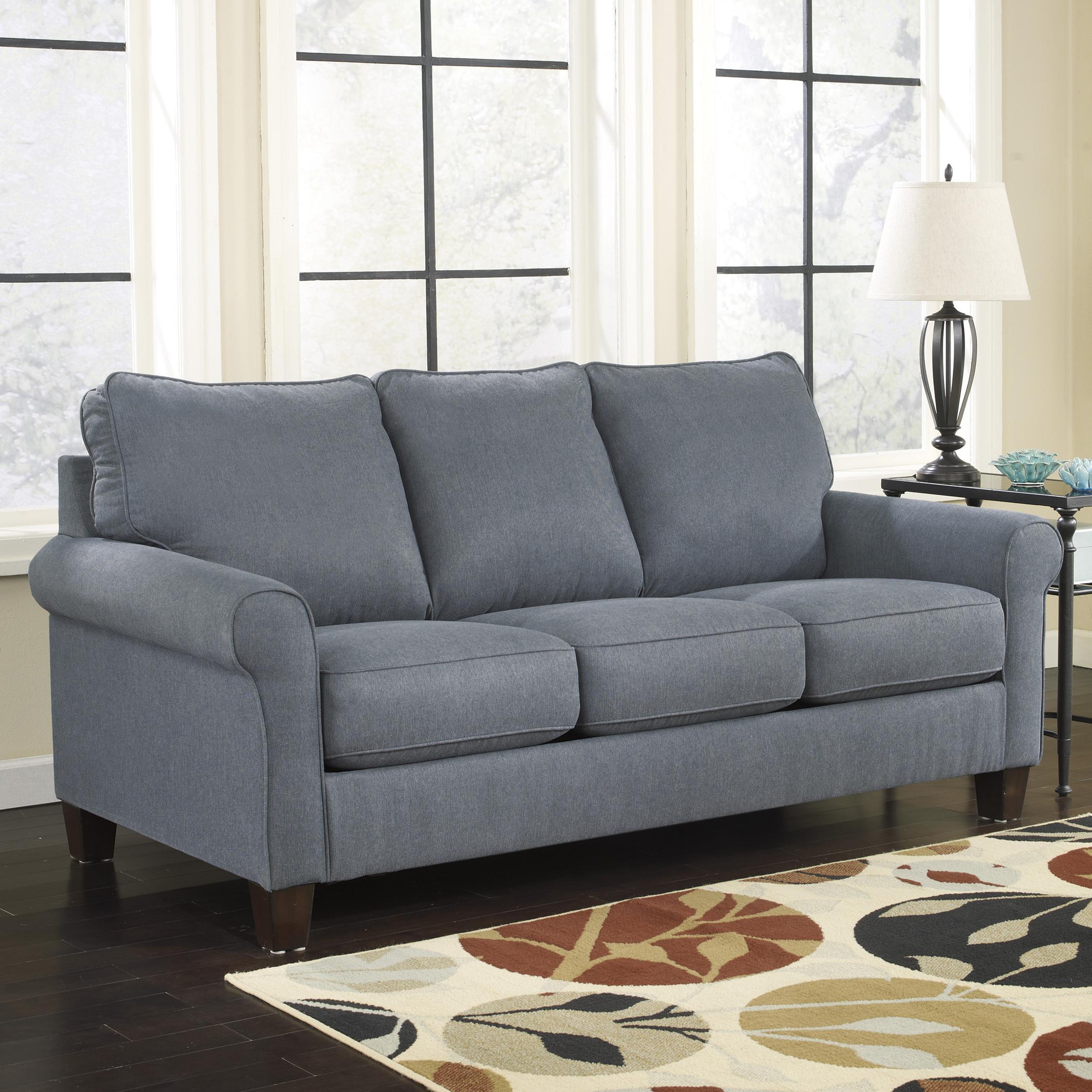 Signature Design By Ashley Zeth   Denim Queen Sofa Sleeper   Item Number:  2710139