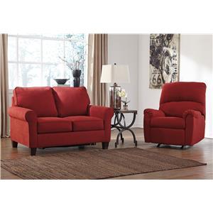 Signature Design by Ashley Zeth - Crimson Stationary Living Room Group