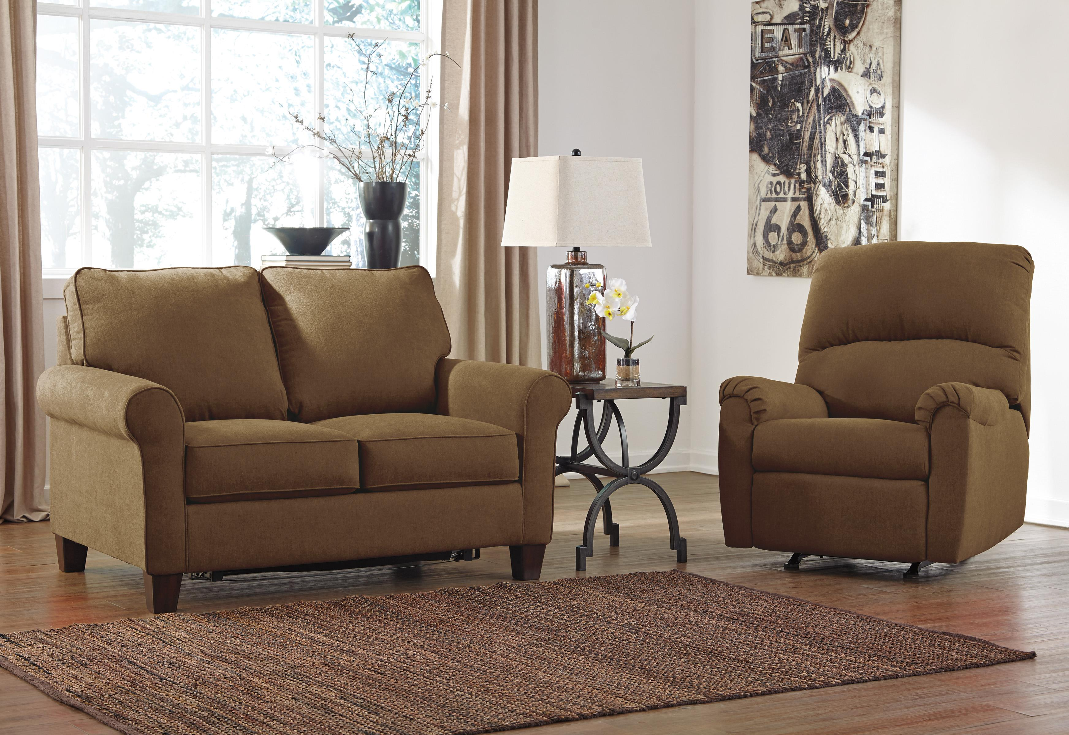Signature Design by Ashley Zeth - Basil Stationary Living Room Group - Item Number: 27103 Living Room Group 2