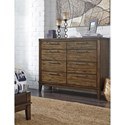 Signature Design by Ashley Zilmar Contemporary Dresser with Mindi Veneer & 8 Drawers
