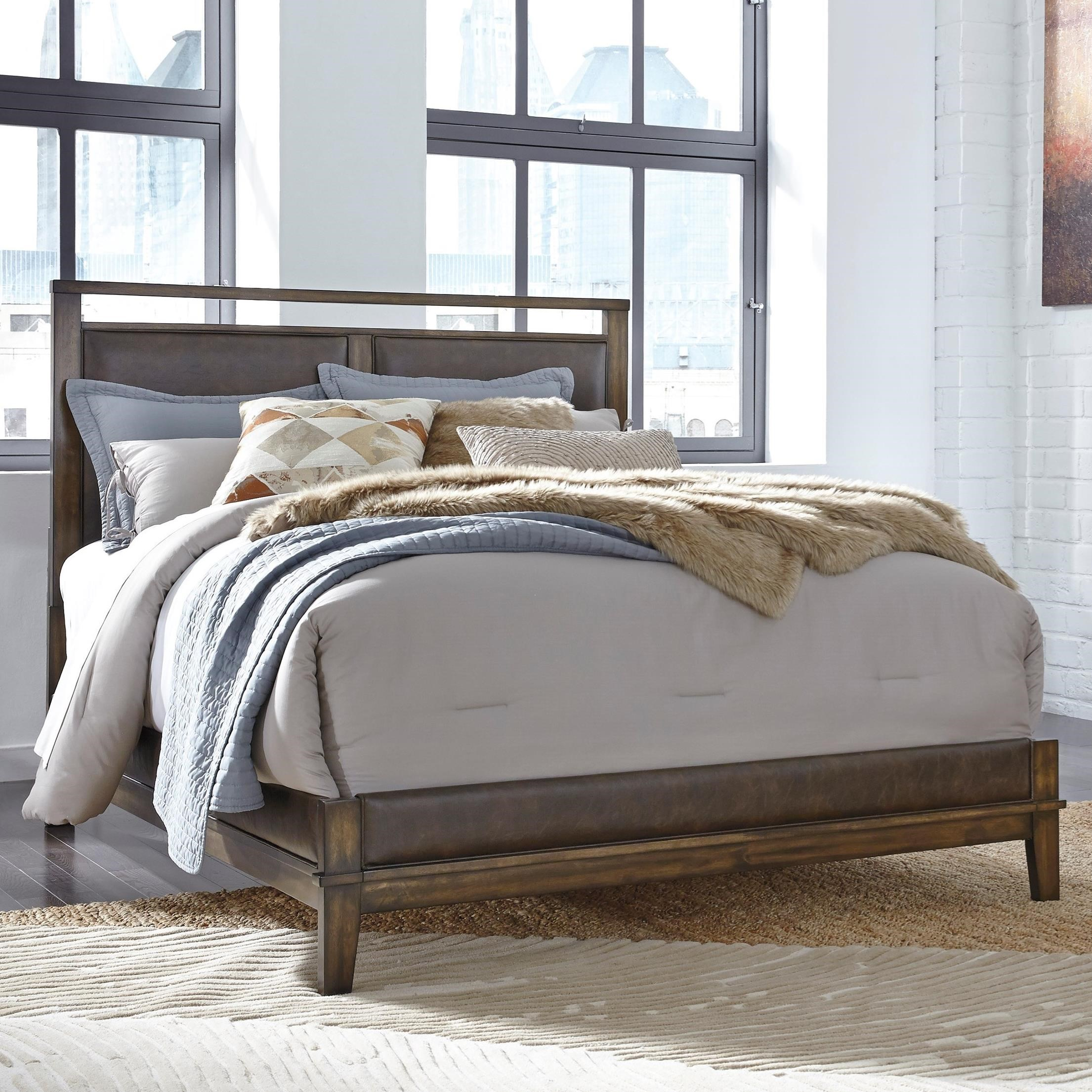 Signature Design by Ashley Zilmar California King Upholstered Panel Bed - Item Number: B548-82+94