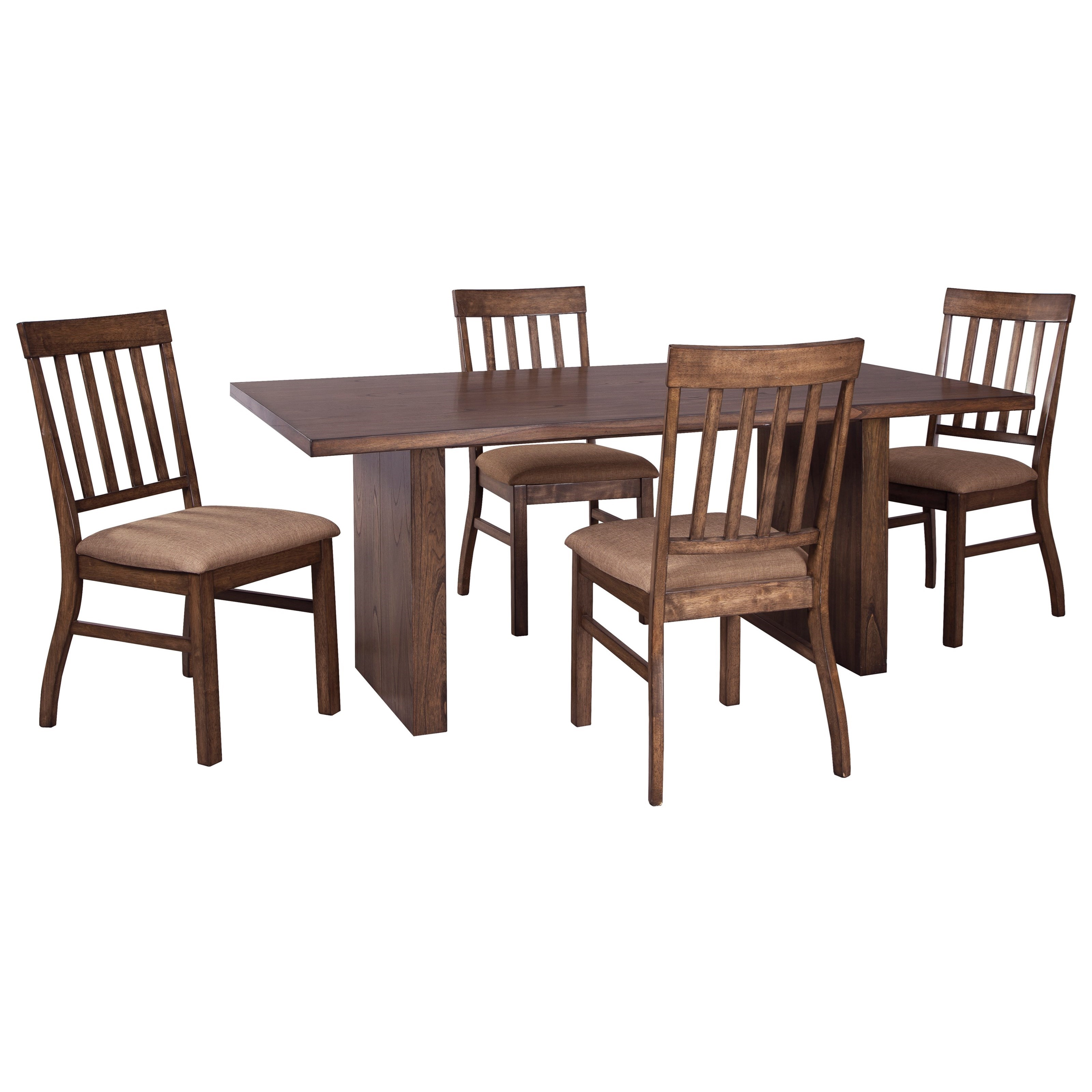 Signature Design by Ashley Zilmar 5-Piece Rectangular Dining Table Set - Item Number: D448-45+4x01