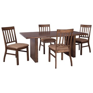 Signature Design by Ashley Zilmar 5-Piece Rectangular Dining Table Set