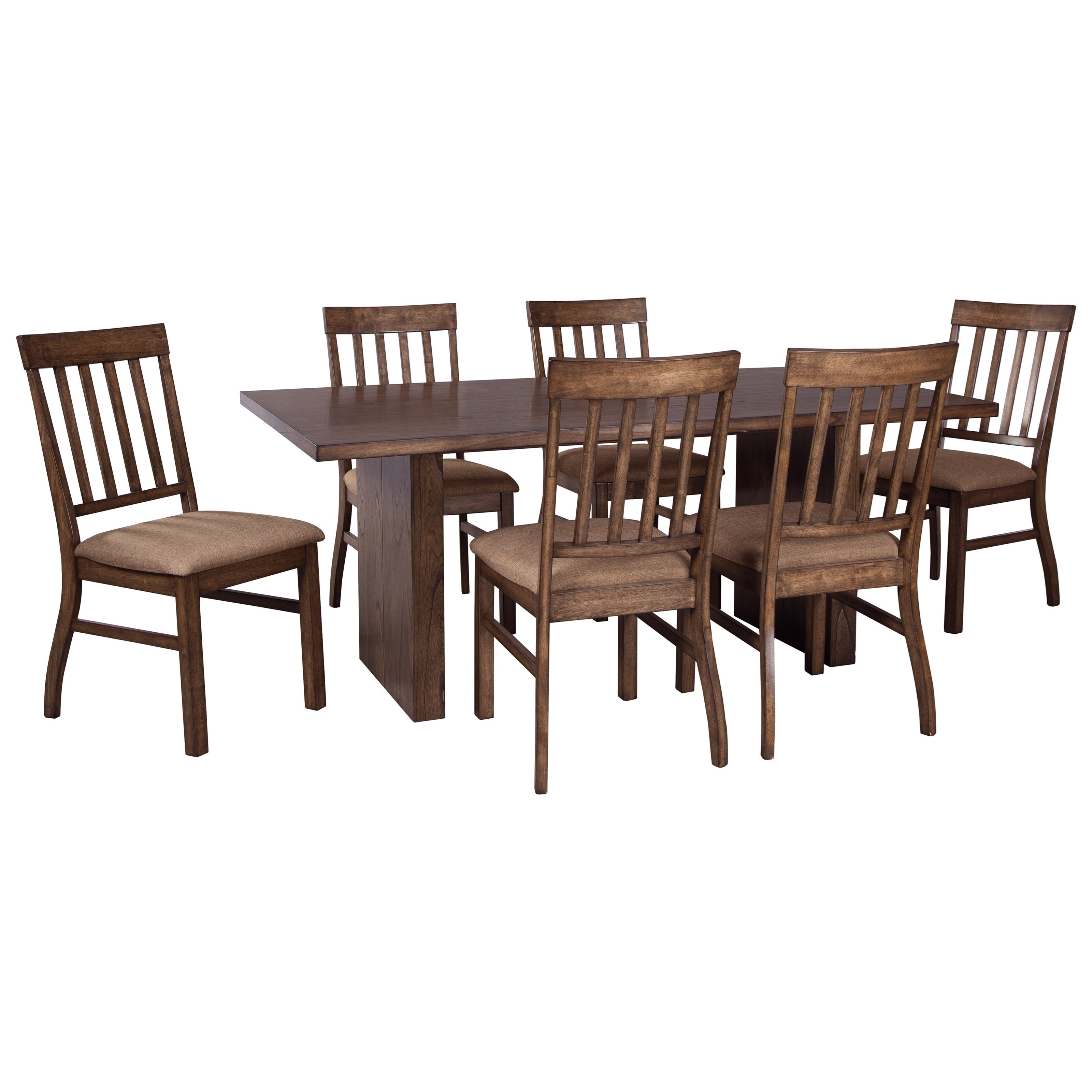 Signature Design by Ashley Zilmar 7-Piece Rectangular Dining Table Set - Item Number: D448-45+6x01