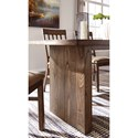 Signature Design by Ashley Zilmar Contemporary Double Pedestal Rectangular Dining Room Table