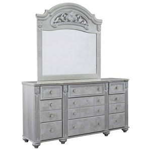 Signature Design by Ashley Zolena Dresser and Mirror Set