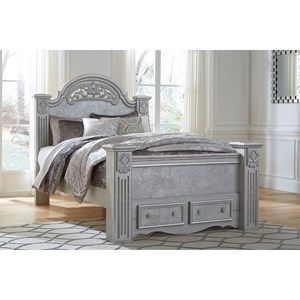 Signature Design by Ashley Zolena Queen Poster Bed