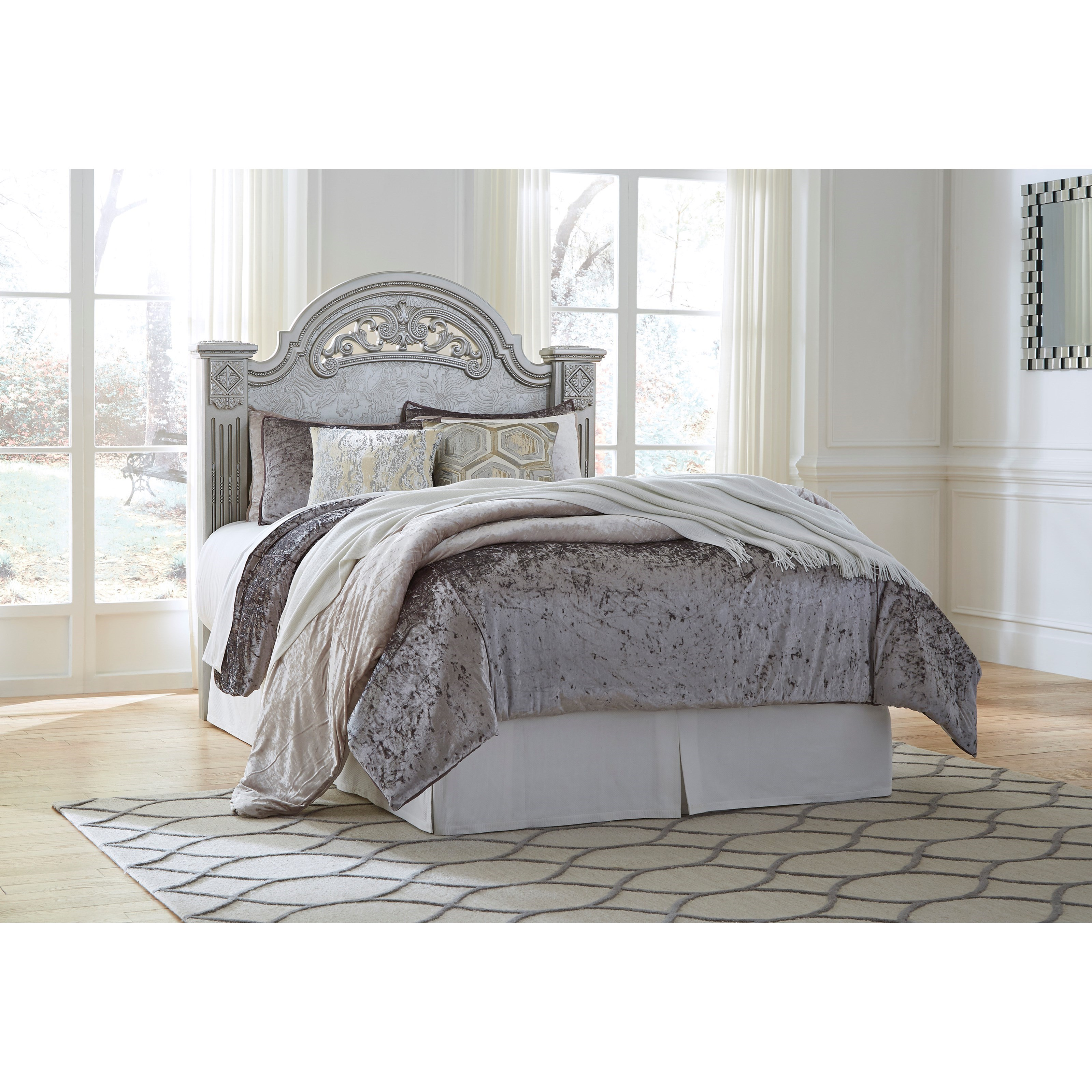 Signature Design by Ashley Zolena Queen Poster Headboard - Item Number: B357-67
