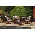 Signature Design by Ashley Zoranne Outdoor Square Fire Pit Table