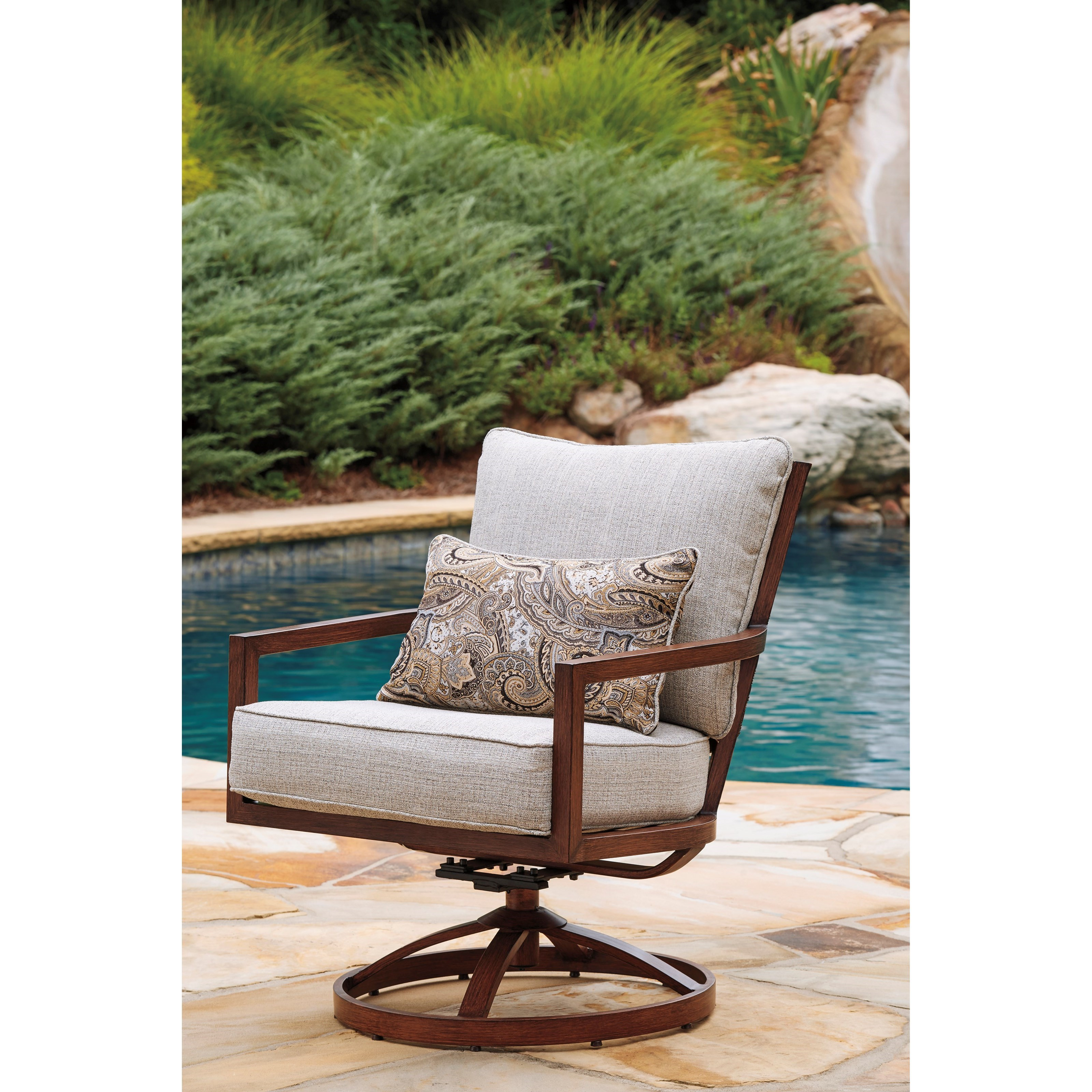 Discounted Furniture Stores Near Me: Signature Design By Ashley Zoranne Set Of 2 Swivel Lounge