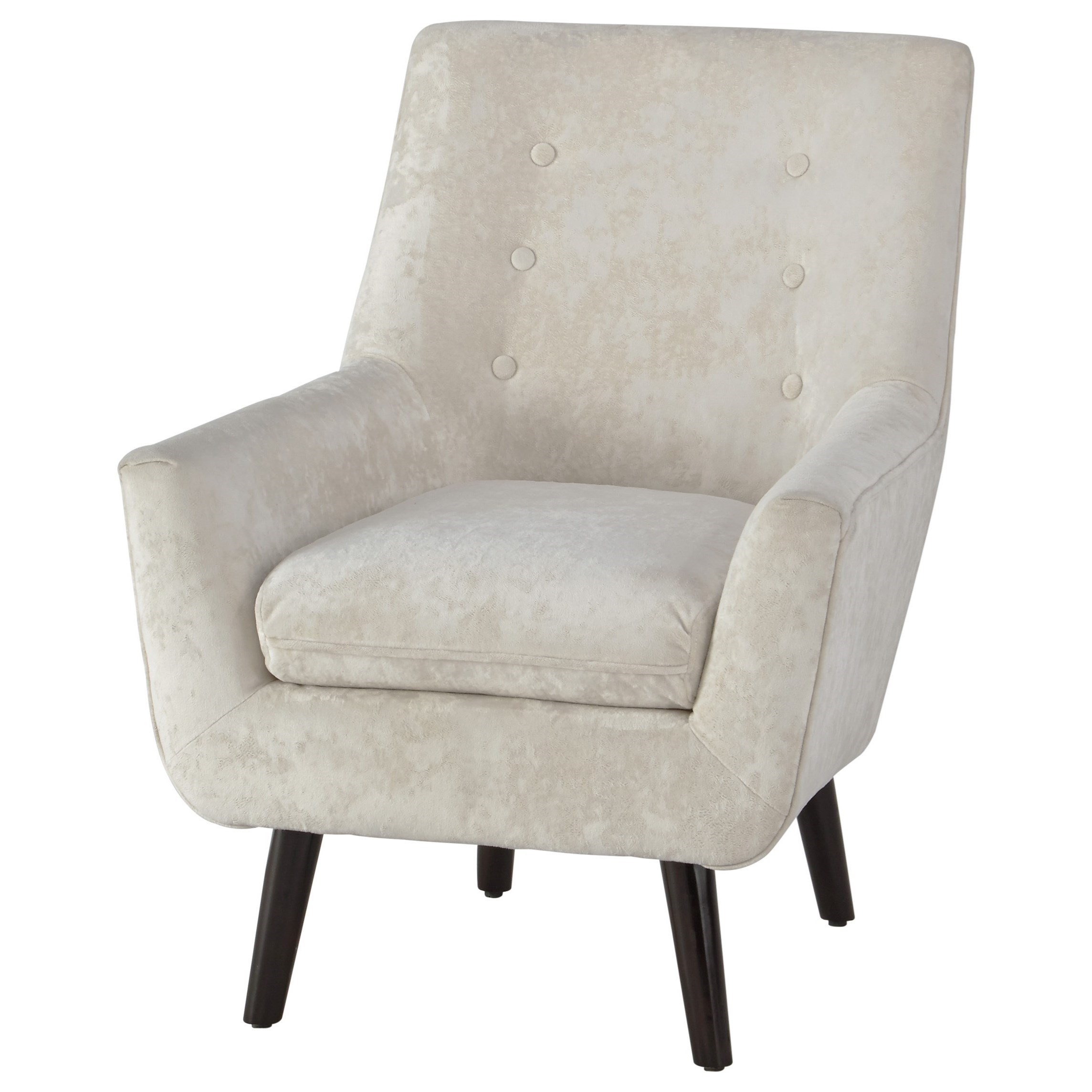 Ashley Signature Design Zossen A3000045 Mid Century Modern Accent Chair In Ivory Crushed Velvet Dunk Bright Furniture Upholstered Chairs