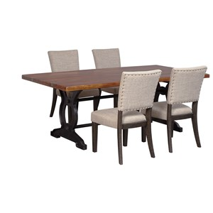 Signature Design by Ashley Zurani 5-Piece Table Set