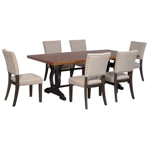 Signature Design by Ashley Zurani 7-Piece Rectangular Table Set