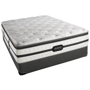 Simmons Beautyrest Black - Evie Queen Luxury Firm Pillow Top Mattress Set