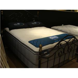 Simmons Adriatic Sea Twin Plush Pillow Top Mattress Set