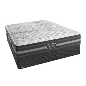 Simmons BR Black Calista Queen Extra Firm Mattress Set, Adj