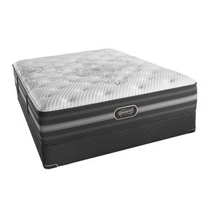 Simmons BR Black Desiree Queen Plush Mattress Set, LP