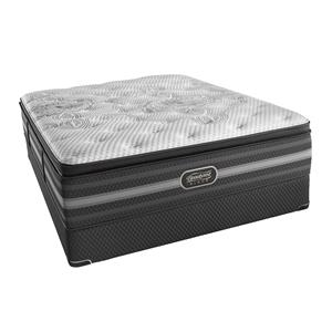 Simmons BR Black Katarina King Lux Firm P.T. Mattress Set, Adj