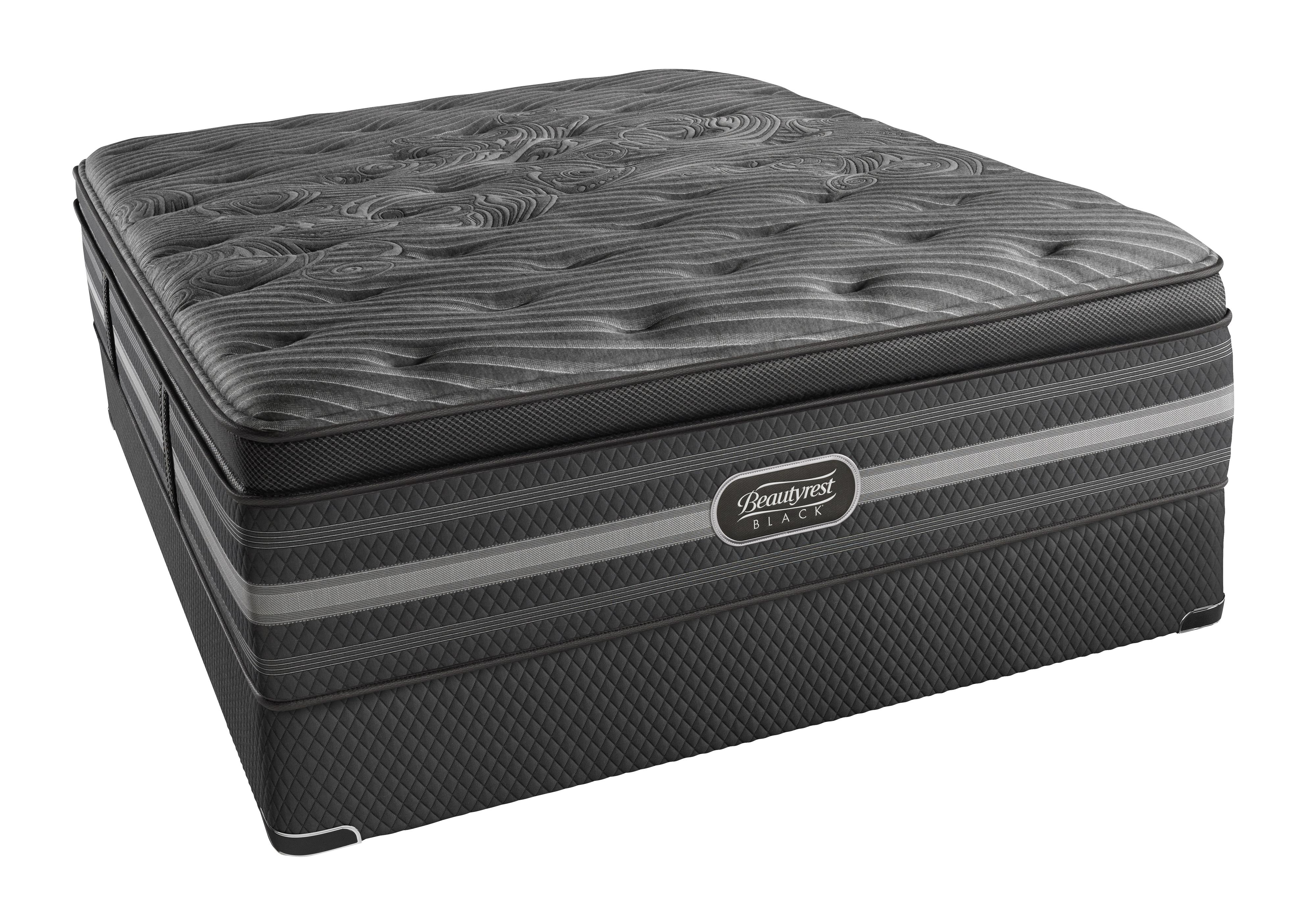 Beautyrest BR Black Natasha Queen Luxury Firm P.T. Mattress Set - Item Number: BRBLUXFMPT-Q+50462Q