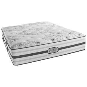 "Simmons BR Platinum Sunkist King Luxury Firm 14.5"" Mattress Set, Adj"