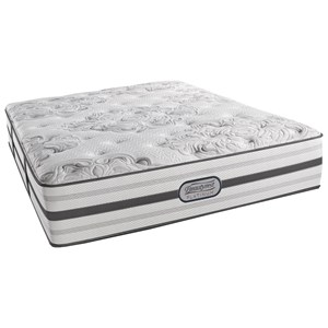"Beautyrest BR Platinum Brittany Queen Plush 14.5"" Mattress Set, Adj"