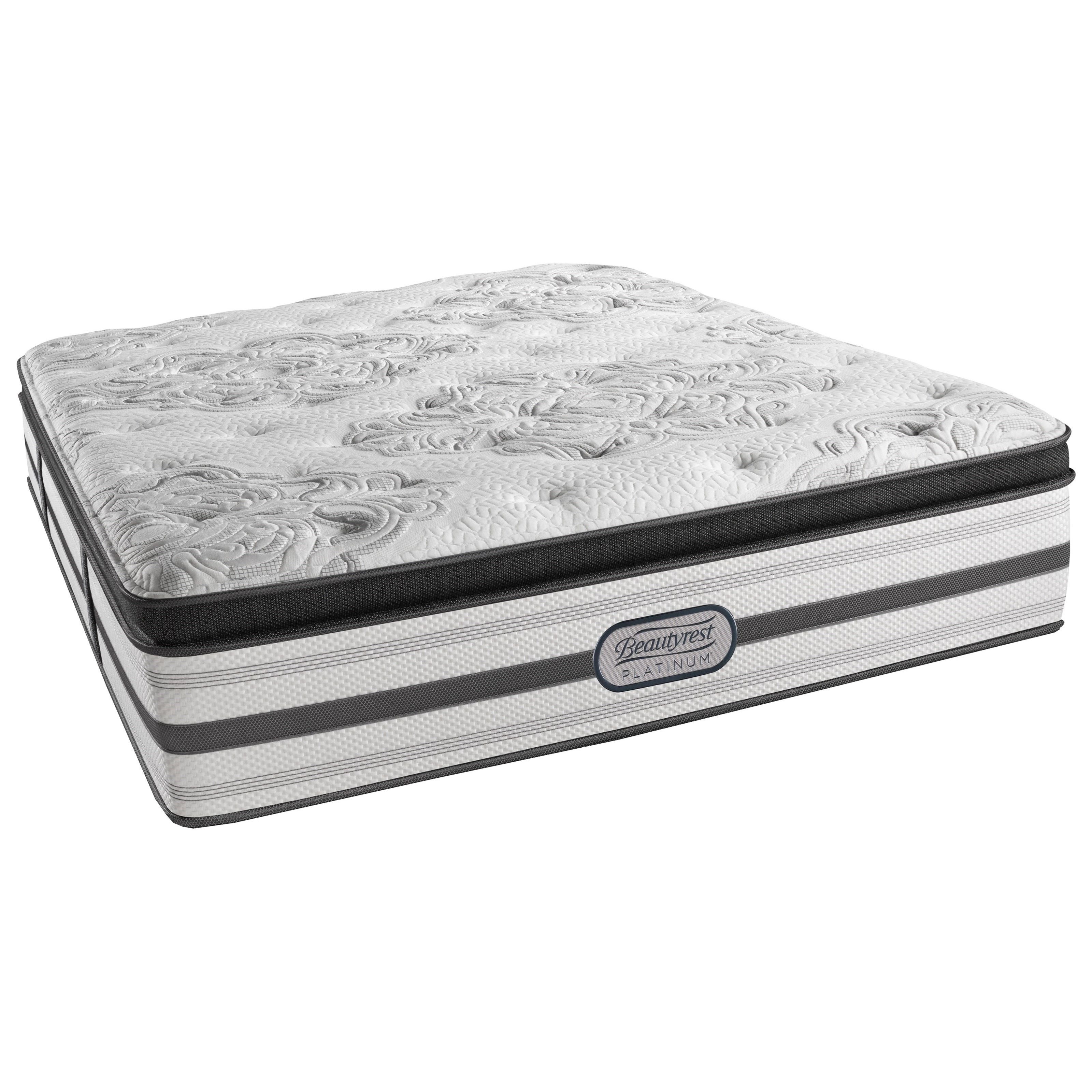Beautyrest Platinum Gabriella Queen Luxury Firm Pillow Top Adjustable Set - Item Number: LV3LFPT-Q+SM3-Q
