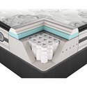 Beautyrest Platinum Gabriella Cal King Plush Pillow Top Mattress and Platinum Low Profile Foundation - Cut-A-Way Showing Comfort Layers