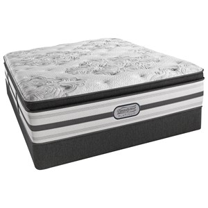 "Simmons Belgrade Plush PT Queen Plush Pillow Top 15"" Mattress Set"