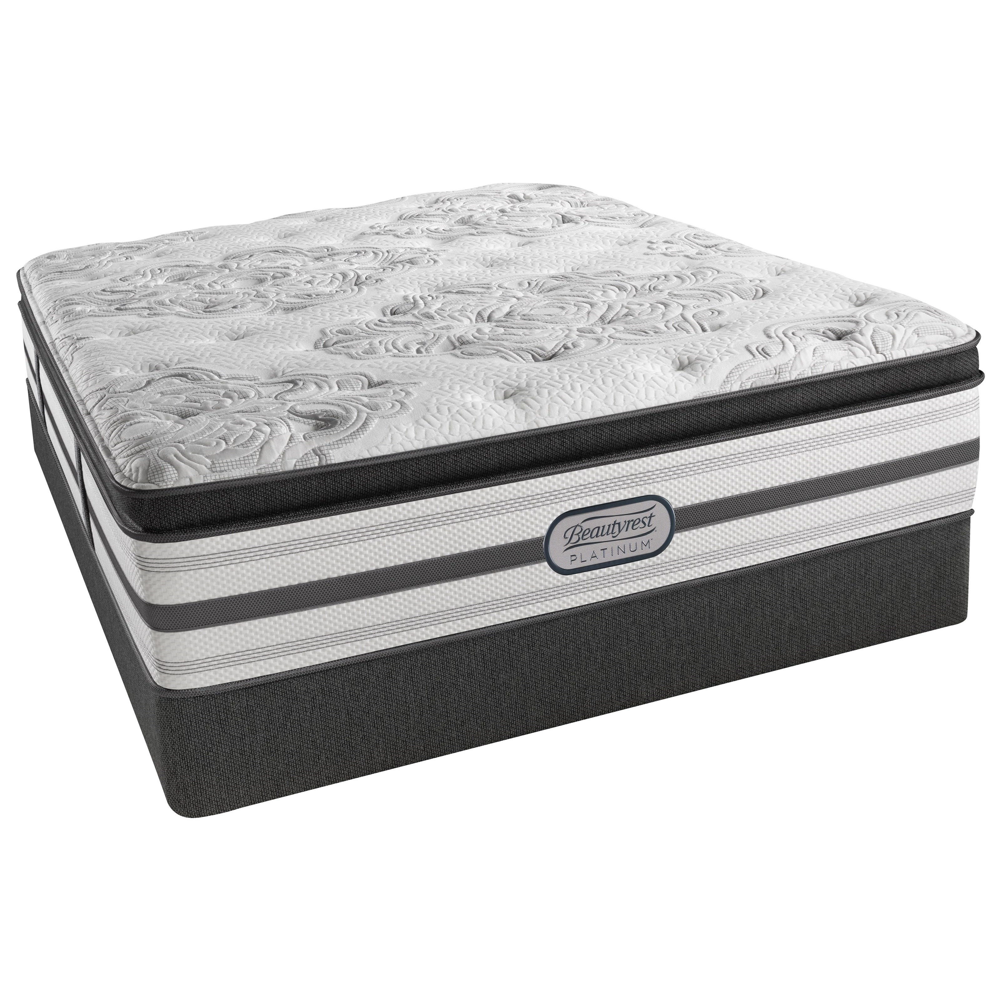 "Simmons Belgrade Plush PT Queen Plush Pillow Top 15"" Low Profile Set - Item Number: LV3PLPT-Q+700600254-6050"
