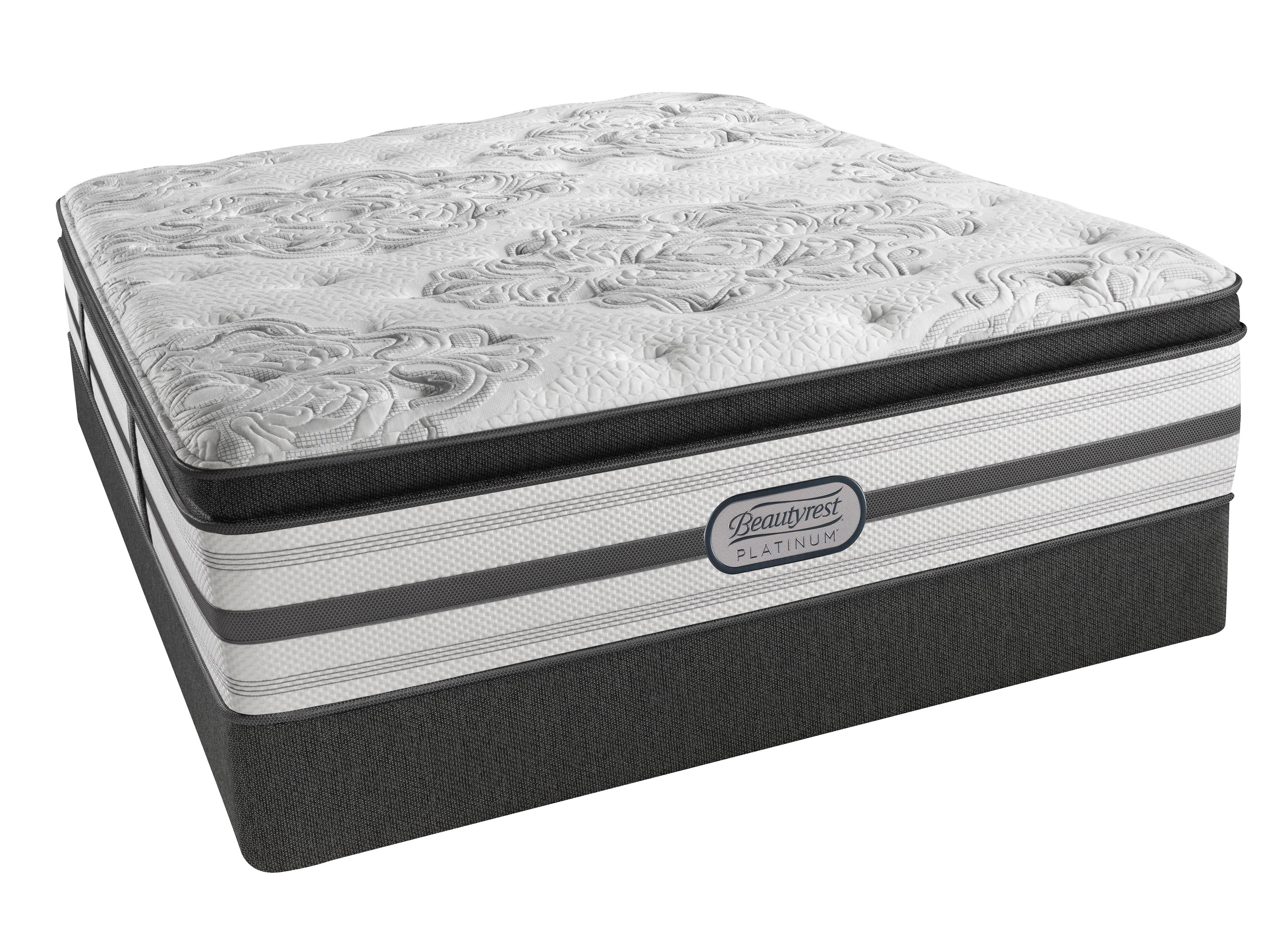 Beautyrest Platinum Gabriella Cal King Plush Pillow Top Low Profile Set - Item Number: LV3PLPT-CK+2x700150470-6070