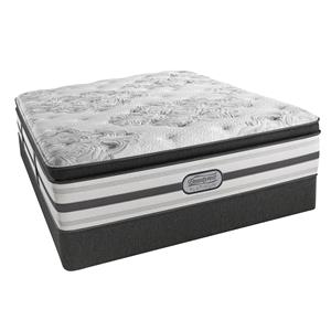 "Simmons BR Platinum Sonny King Plush Pillow Top 15"" Mattress Set, LP"