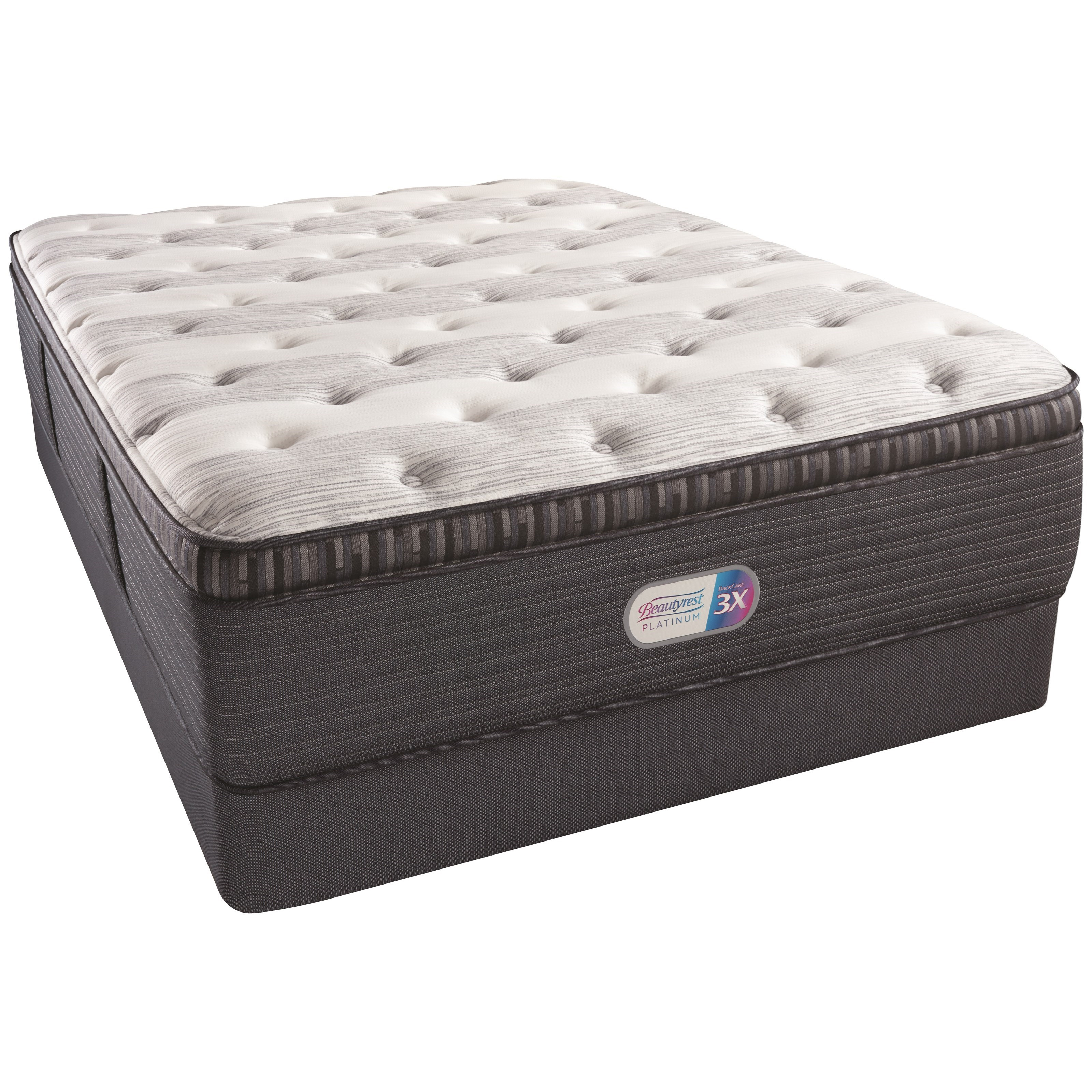 "Queen 16"" Plush PT Coil on Coil Mattress Set"