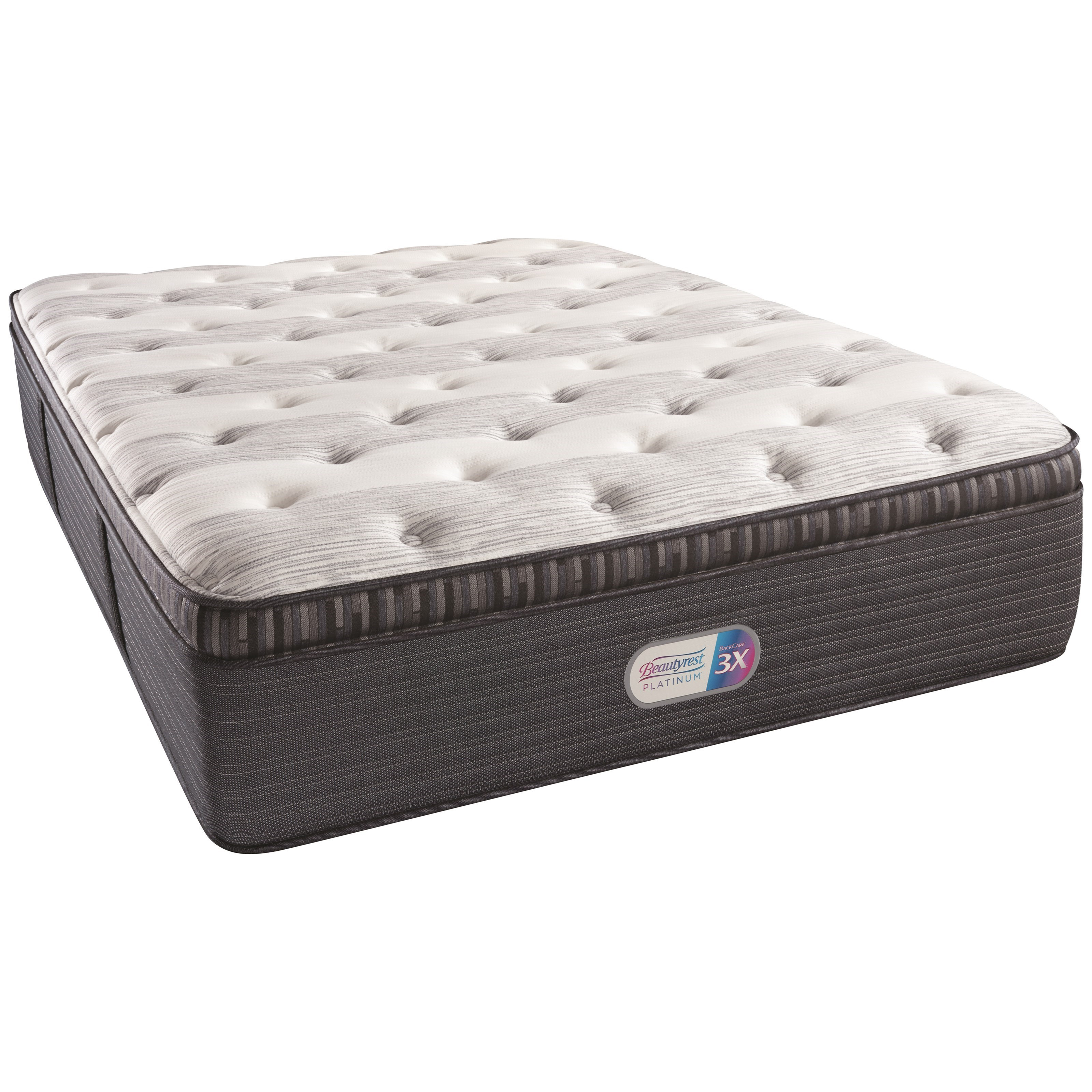 "Cal King 16"" Plush PT Coil on Coil Mattress"