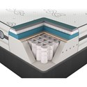 Beautyrest Platinum Hybrid Maddie Cal King Luxury Firm Mattress and Low Profile Foundation - Cut-A-Way Showing Comfort Layers