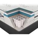 Beautyrest Platinum Hybrid Maddie Queen Luxury Firm Mattress - Cut-A-Way Showing Comfort Layers