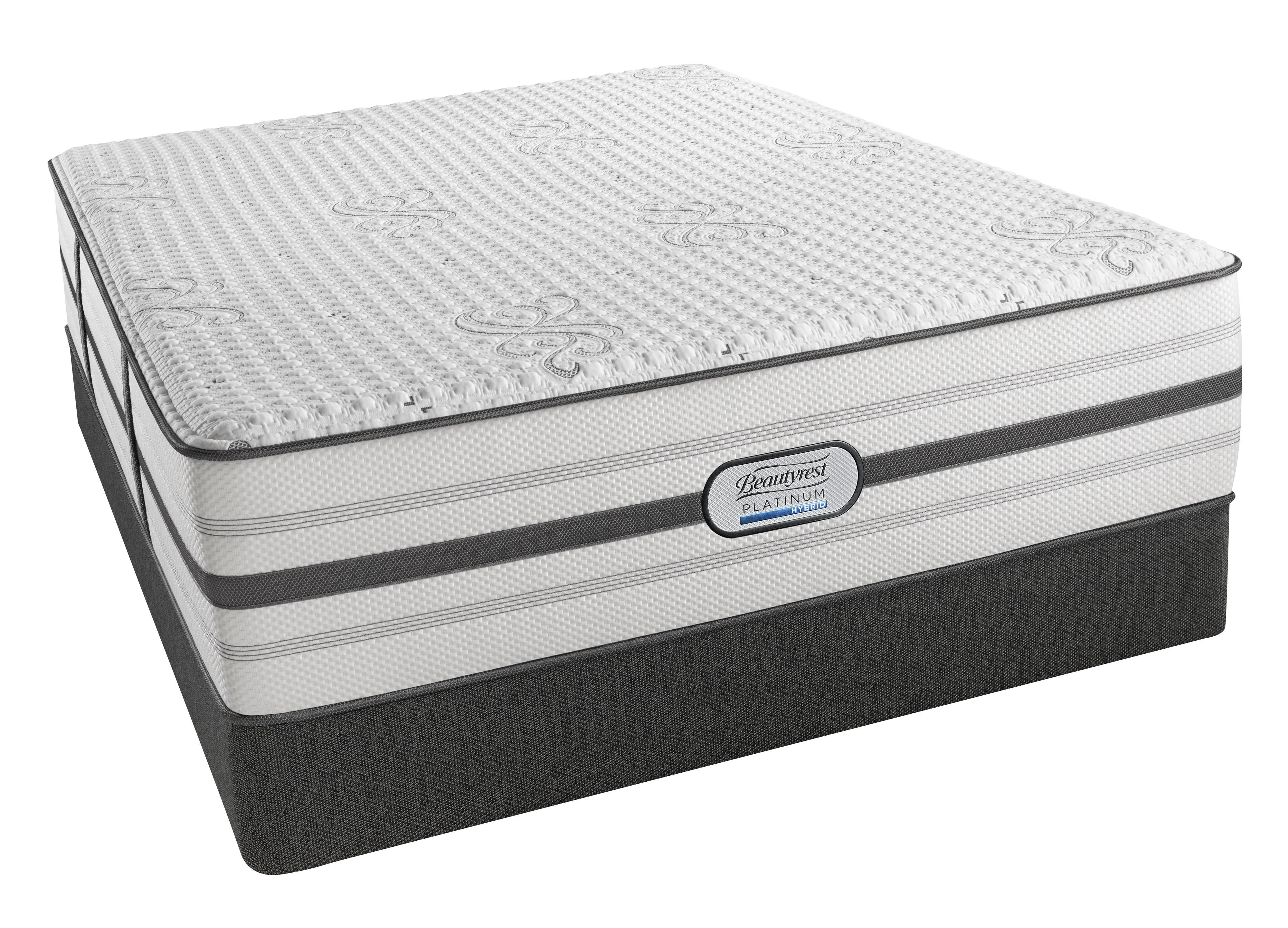 Beautyrest BR Platinum Hybrid Quinn Twin XL Ultra Plush Hybrid Mattress Set - Item Number: BRHLV4UPL-TXL+50280TXLK