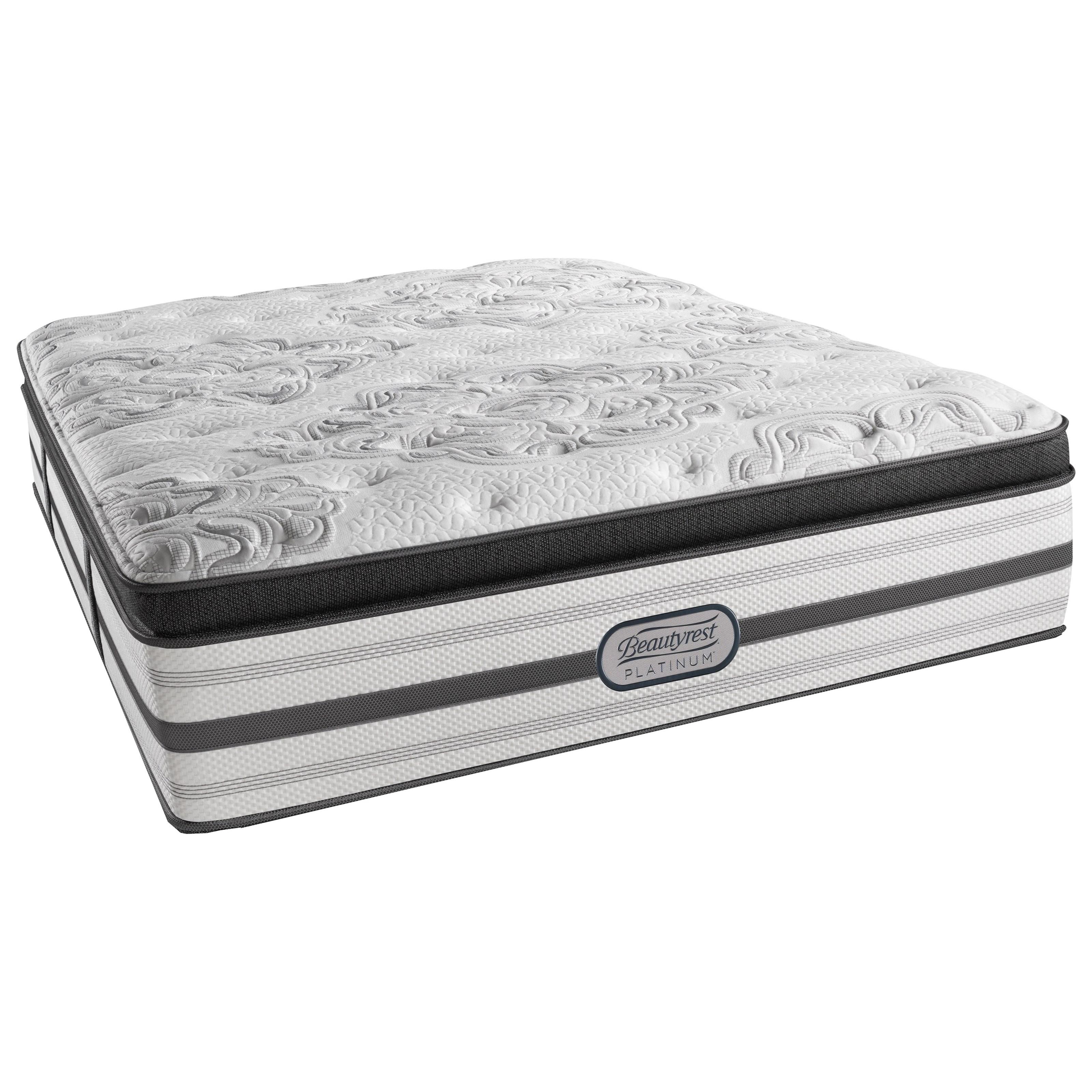 Beautyrest Platinum Katherine Cal King Plush Box Top Adjustable Set - Item Number: LV4PLBT-CK+2xSM1-SPCK