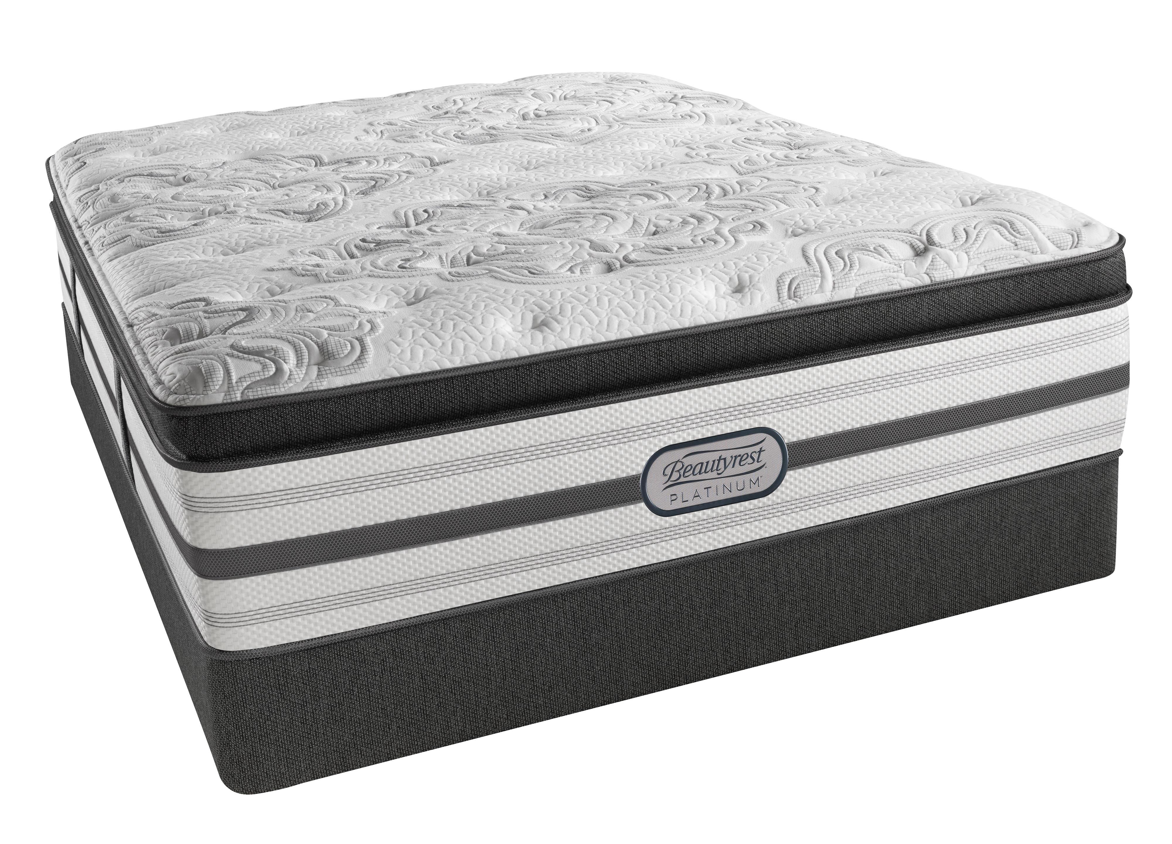 Beautyrest Platinum Katherine Queen Plush Box Top Low Profile Set - Item Number: LV4PLBT-Q+700150470-6050